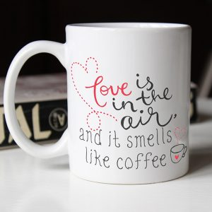 love is in the air and smells like coffee